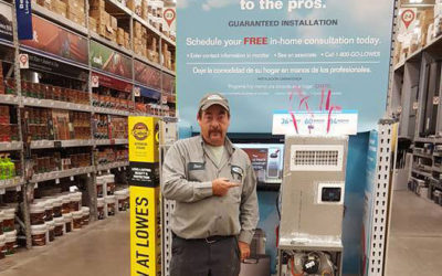 Lennox is on display at the Montoursville Lowe's
